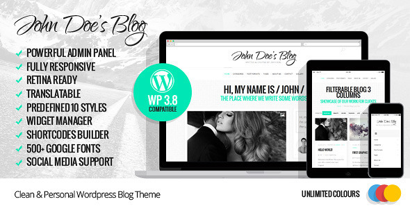 JohnDoeBlog themeforest wordpress