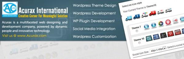 Acurax social media widget wordpress