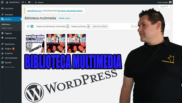 biblioteca multimedia wordpress