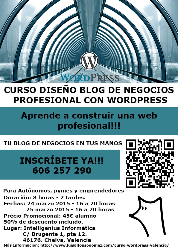 Curso WordPress Valencia en Chelva