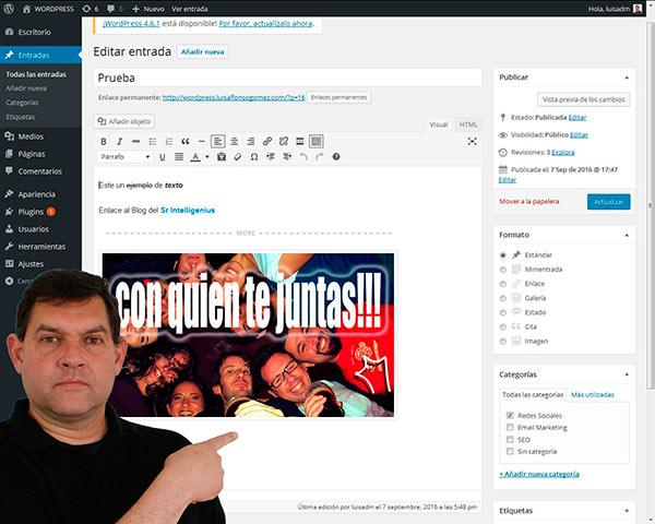 Curso de WordPress - Gestión de entradas