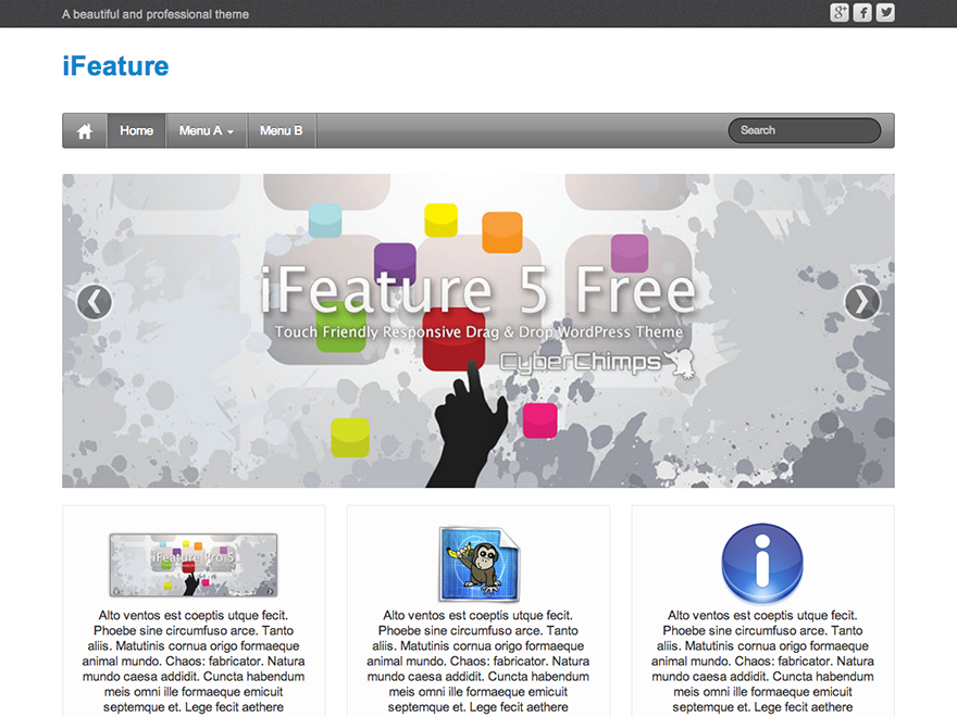 ifeature Theme WordPress