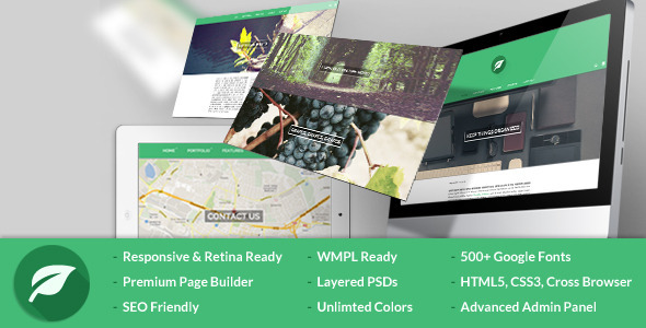 leaf themeforest wordpress