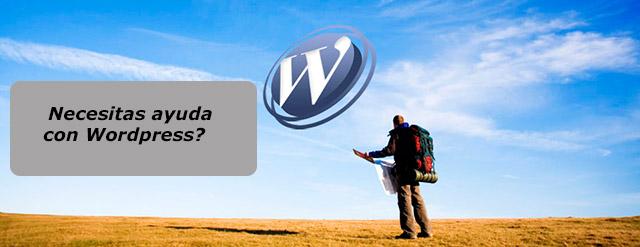 Necesitas ayuda con wordpress?