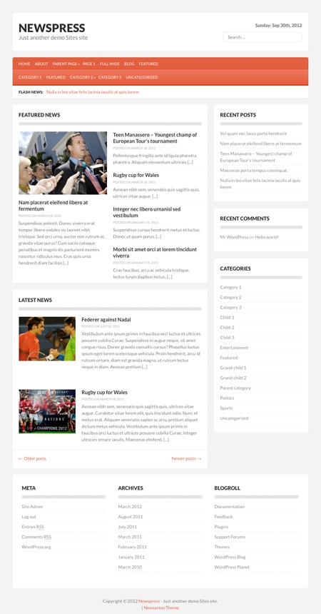 NewsPress theme wordpress