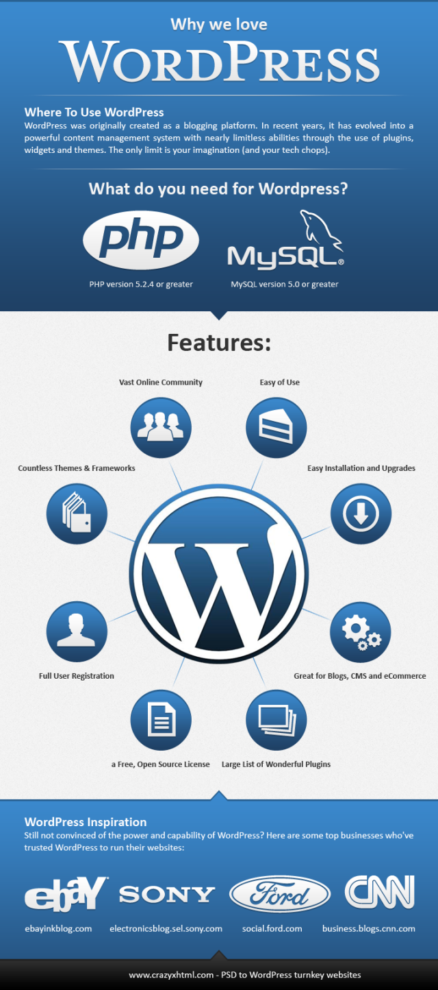 Porque wordpress infografia