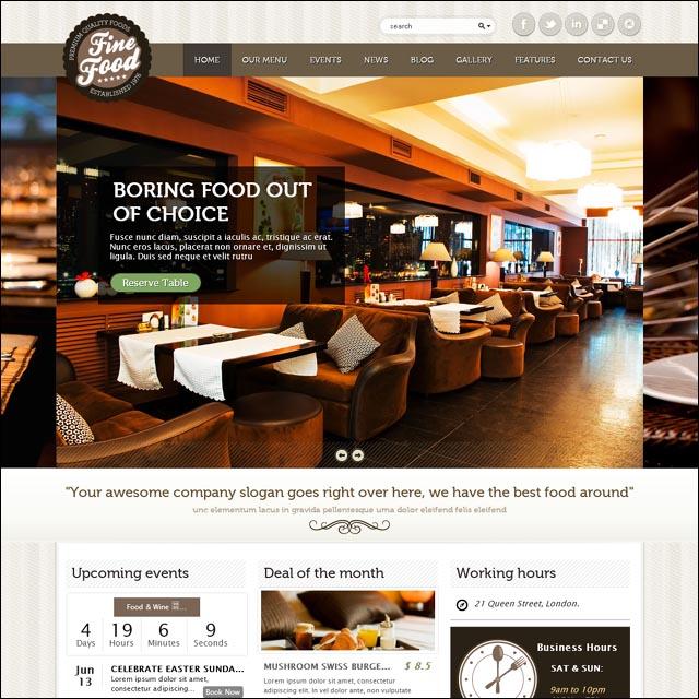temas para restaurantes wordpress