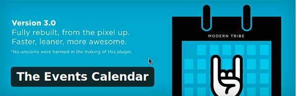 The events calendar wordpress