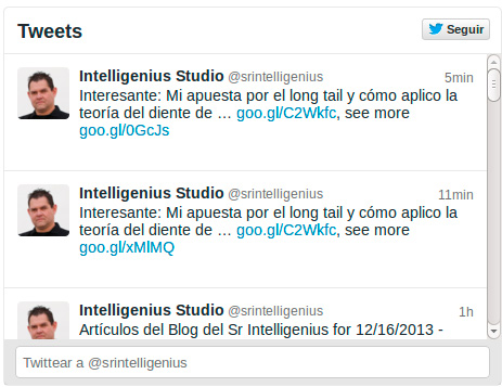 Twitter Widget Intelligenius