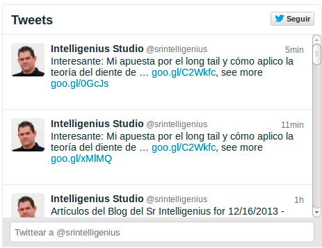 Twitter Widget Intelligenius